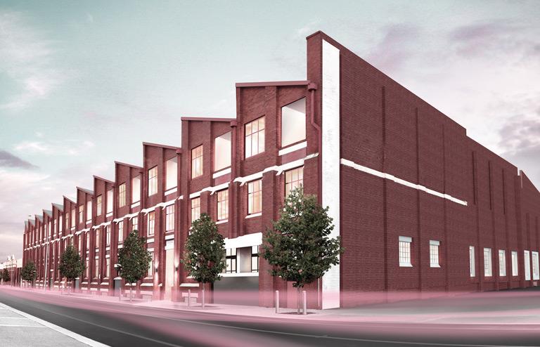 Brick apartment block