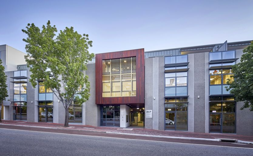Professional external shot of Rhythm by Match, a commercial and executive apartments in Subiaco Perth Western Australia