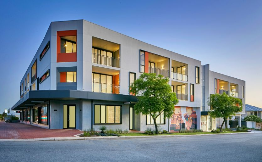 M/25 Apartments by Match in Mount Lawley professional external photoshoot