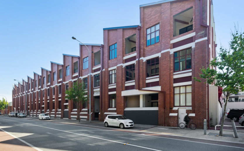 Heirloom Apartments by Match, the historic 96-year old Dalgety Wool Stores building in Fremantle converted to luxury warehouse loft apartments