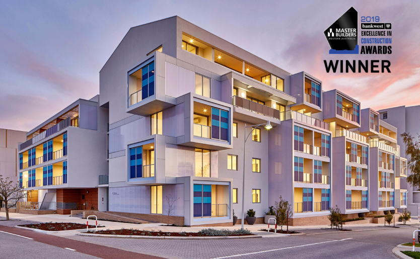 Form Apartments by Match in North Coogee awarded the 2019 Master Builders Award for Excellence in Construction Best Multi-Unit Development between $10million to $20 million