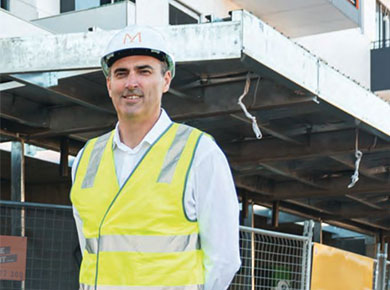 Michael Read, Director of M/Construction, one of only a couple of successful larger-scale developer-builder firms in Perth